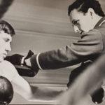 Первый обладатель главного приза – ладьи В.Удовик и его тренер Б.Гитман